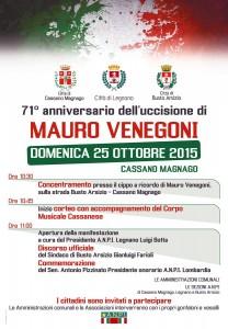 Locandina Mauro Venegoni